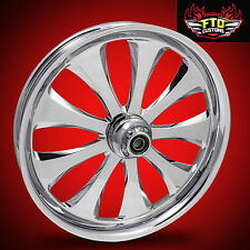 "Harley Davidson 21"" inch Custom Chrome Front Wheel ""Monarch"""