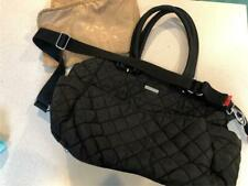 ~Storksak~Bobby~ Black Quilted Diaper Bag~W/ Changing Pad~ Excellent
