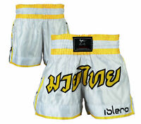 ISLERO Muay Thai Shorts MMA Kick Boxing Grappling Martial Arts Cage Fight UFC