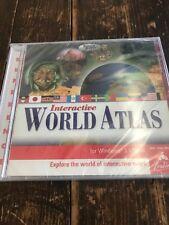 Interactive World Atlas Reference Windows 3.1/95/97 (sealed) explore world maps