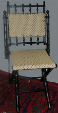 SIGNED AMERICAN AESTHETIC MOVEMENT CAMPAIGN CHAIR