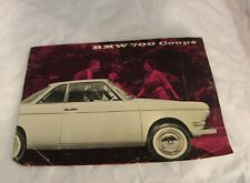 BMW 700 Coupe Sales Brochure Advertisement Booklet w/ extra loose pages