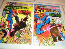 SUPERMAN & BATMAN   Heft 9 + 10  / 30. April + 14. Mai1980  DC COMICS / Ehapa