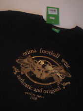 . sportwear T-shirt homme marque ERIMA football wear noir et or XL
