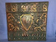 """Antique 24"""" x 24"""" Salvaged Detailed Victorian Metal Tin Ceiling Tile ORNATE-C"""
