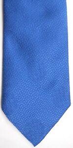 "Golden K Men's Vintage Polyester Tie 56"" X 4.25"" Blue w/ Polka Dot Weave"