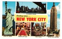 Undated Unused Postcard Greetings from  New York City NYC NY 5 views
