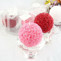 Silicone Candle Mold Rose Ball Aromatherapy Candle Soap Mould Craft Baking .fHWU