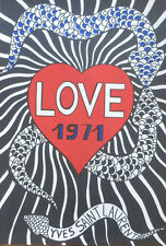 YVES SAINT LAURENT LOVE 1971 Rare Affiche de Mode