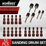 51pc Sanding Drum Set Rotary Tool Rubber Mandrel Bands Sleeves Kit 1/2 3/8 1/4