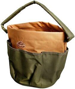 Esschert Design  28 x 28 x 26cm Textile Garden Tools Bag Green