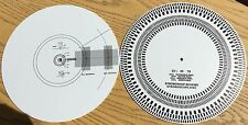 Turntable Mat Cartridge Alignment Protractor Strobe Disc Stroboscope Made in USA
