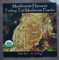 Turkey Tail Mushroom Harvest USA Grown Organic Coriolus Versicolor- 1 pound