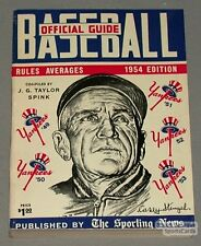 Rare 1954 The Sporting News Baseball Guide