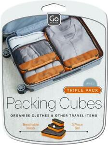 Go Travel Triple Packing Cubes Travel Luggage