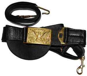 Civil Indian War Union Cavalry Officers Leather Sword Belt & Square Buckle,NEW
