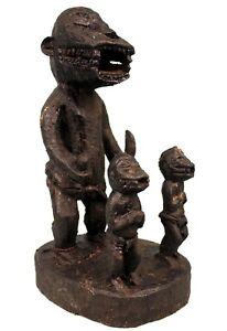 Art Africain - Spectaculaire Objet de Culte - Singes Mbotumbo Baoulé - 41 Cms