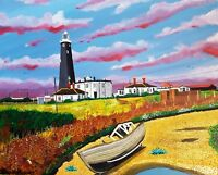 LIGHTHOUSE 1&2 DUNGENESS KENT OPEN EDITION PRINT BY MICHAEL PRESTON