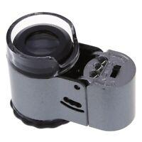 50Fach Taschenmikroskop Minimikroskop Lupe mit LED Lampe Falschgeld-Prueffu D3K3