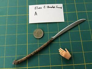 """Elven 2-Handed Sword A"" 1:6 Scale Custom Steel Miniature By Auret"