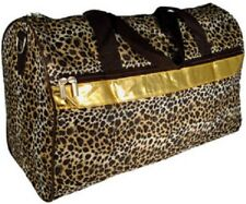 """Leopard with Gold Trim 19"""" Duffle Bag-NIB"""