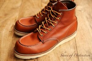 Men's Red Wing 875 Classic Moc Toe Tan Brown Leather Boots UK 10 D US 11 EU 44