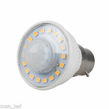 BC B22 3W PIR Presence Motion Sensor Detector LED Light Bulb Cool White 6000k