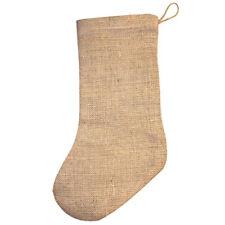 Jute Hessian Christmas Xmas Stocking