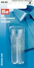 Prym Kragenstäbchen hält Hemdkragen in Form 10x55 mm transparent 24 St 405261