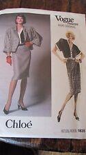 1987 Vogue Paris Original Sewing Pattern 1835 Size 14 Chloe Top Skirt Jacket New