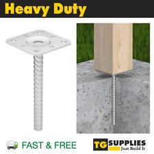 Heavy Duty Galvanised Concrete In Post Support Base Bracket Brace Post Foot