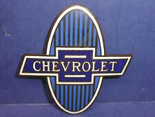 Vintage 1929-1931 Chevrolet Radiator Emblem Enamel Badge CT27