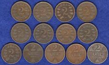 More details for norway, 13x 2 ore coins, 1876-1920, 13 coins (ref. t3278)