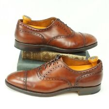 Alden Cap Toe Medallion Balmoral Model 911 Chili Brown 9.5 AA VERY NICE!