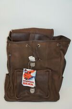Vintage Marlboro Unlimited Heavy Leather Backpack New with Tags