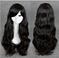 Sexy Women Long Curly Wavy Full Wig Healthy Hair Synthetic Hair Wigs+Free Cap