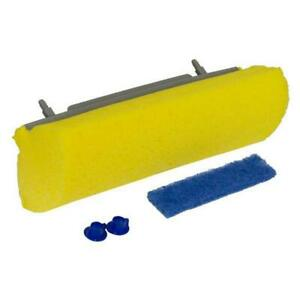 Quickie Mop And Scrub Roller With Mop Refill And Microban