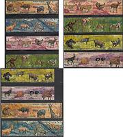 Wild Animals Burundi #355-60,C146-51 Complete 48 Value Topical Set