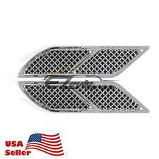 Universal ABS Chrome Air Fender Grill Body Side Vents Car SUV Decoration Decal
