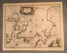 JAN JANSSON c. 1659 Map of North Polar and Arctic regions NR