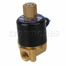 "2 Way NBR Electric Solenoid Valve Water Air N/O 12V DC 1/4"" Normally Open Type"