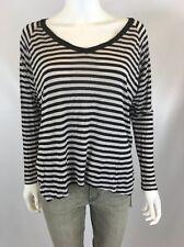 Velvet By Graham Spencer Women's Black And White Long Sleeve Shirt Sz Small I510