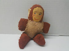 "Antique GUND 7"" Monkey Cloth Face Stuffed Animal Ape Toy"