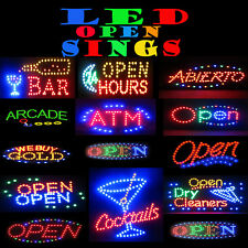 Animated Open Led Signs For Business Indoor Use Flashing Motion Display