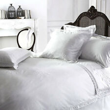 "Luxury White Vintage Shabby Chic Lace ""YVETTE"" 100% Cotton Bedding"