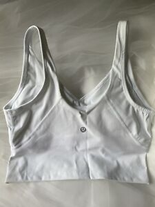 Lululemon Sports Bra Crop Top Size 8 White