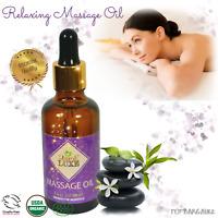 Body Massage Oil Organic Argan Oil Sweet Almond Oil Aromatherapy Sensual Oils