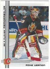 MIKE VERNON Lot of 3 - 90-91 Upper Deck X 2, 00-01 Be A Player NM Calgary Flames