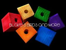 12 XL 1-1/2 X 1-1/2 WOOD BLOCKS WITH 3/8' HOLE Bird Toy Parts LARGE PARROT FAV