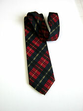 MADE IN ITALY NUOVA NEW PURA SETA PURE SILK TARTAN